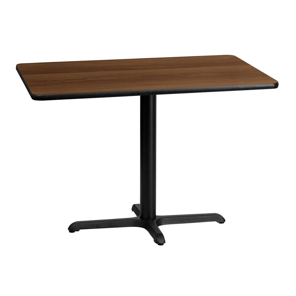 Flash Furniture In X In Rectangular Walnut Laminate Table - 30 x 42 dining table