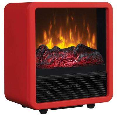 400 sq. ft. Compact Cube Electric Stove, Red