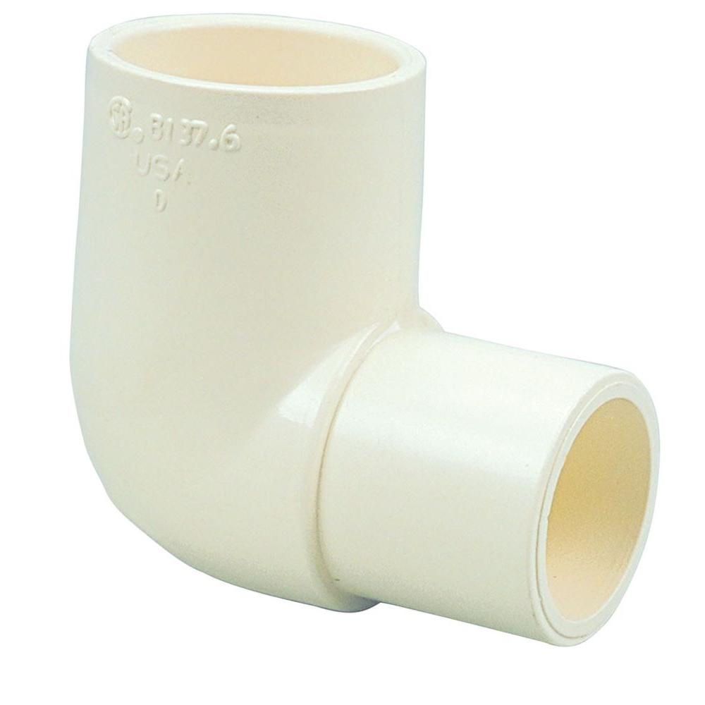 3 4 in cpvc cts 90 degree spigot x slip elbow c4707 2 for Cpvc hot water