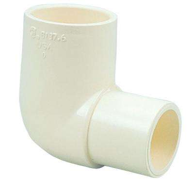 3/4 in. CPVC CTS 90-Degree Spigot x Slip Elbow Fitting