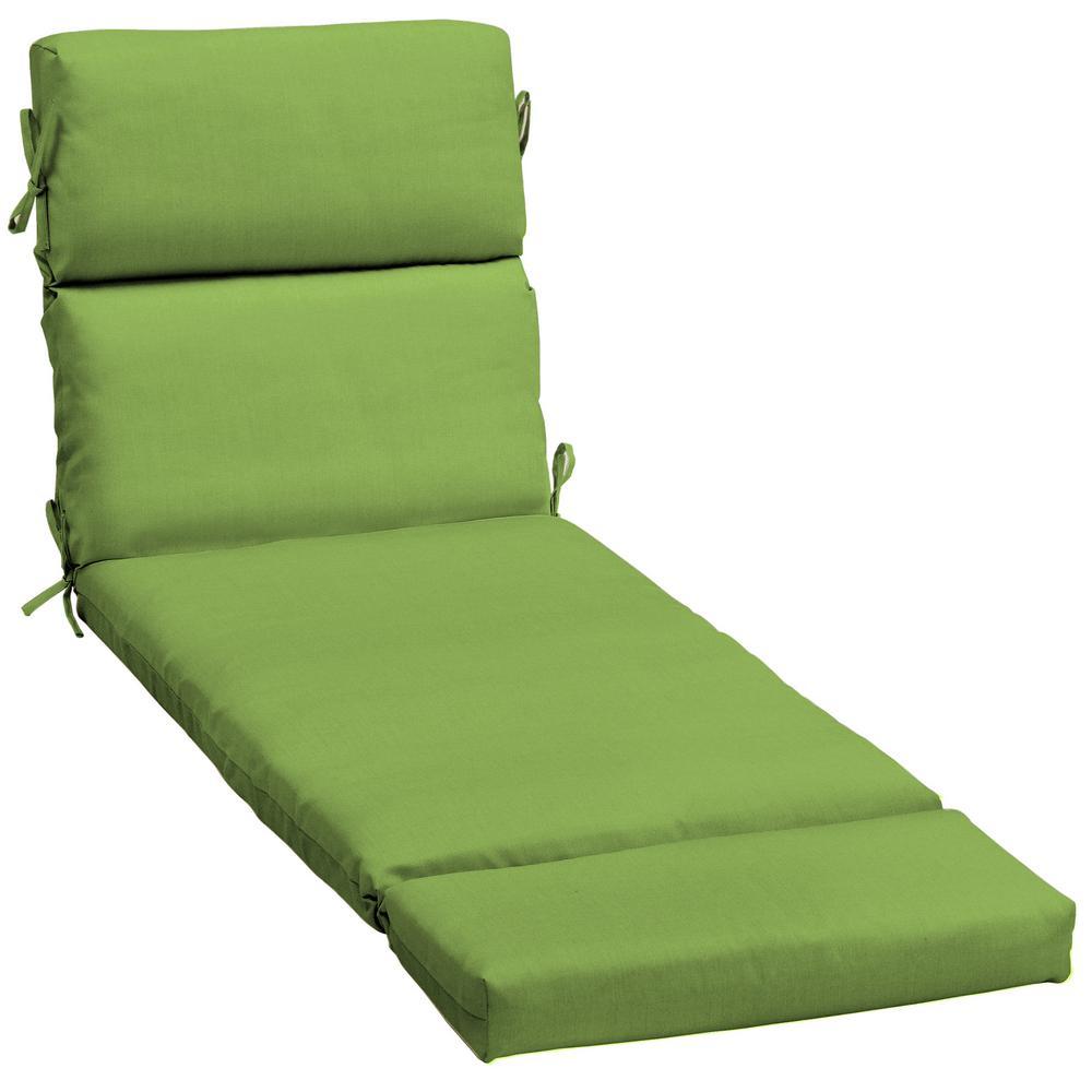 Home Decorators Collection Sunbrella Canvas Gingko Outdoor Chaise Lounge Cushion Ah1r592b D9d1