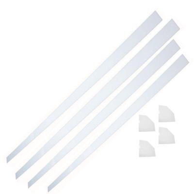 60 in. x 60 in. Acrylic Installation Kit in White