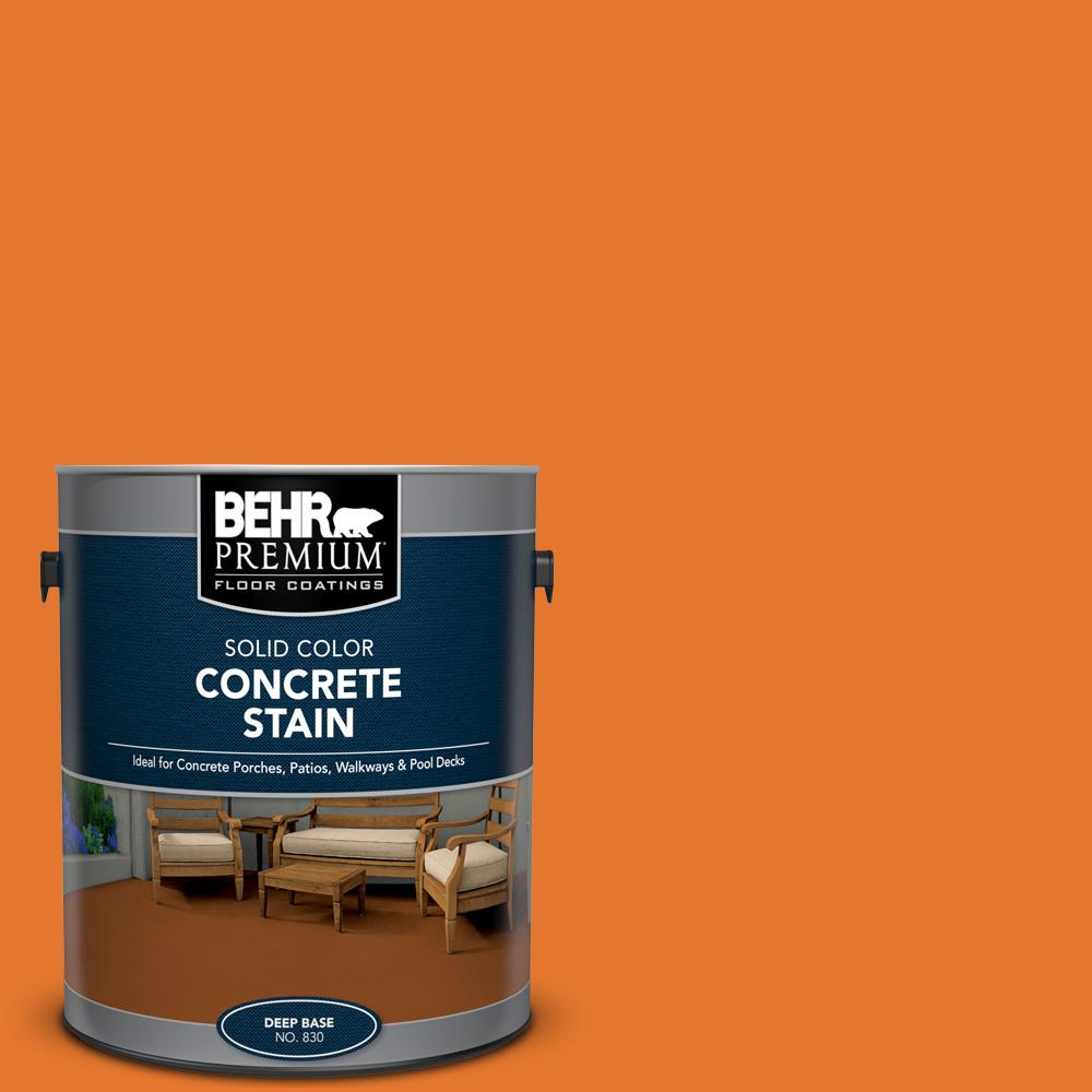 1 gal. #OSHA-3 OSHA SAFETY ORANGE Solid Color Flat Interior/Exterior Concrete