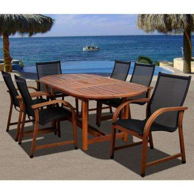 Bahamas Oval 7-Piece Eucalyptus Patio Dining Set
