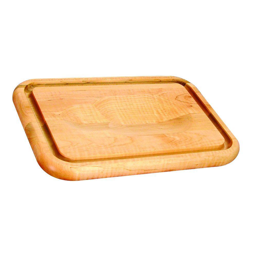 Hardwood Cutting Board with Holding Wedge