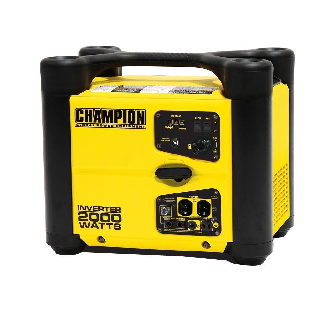 Champion Power Equipment 2,000-Watt Recoil Start Gasoline Powered Portable... by Champion Power Equipment