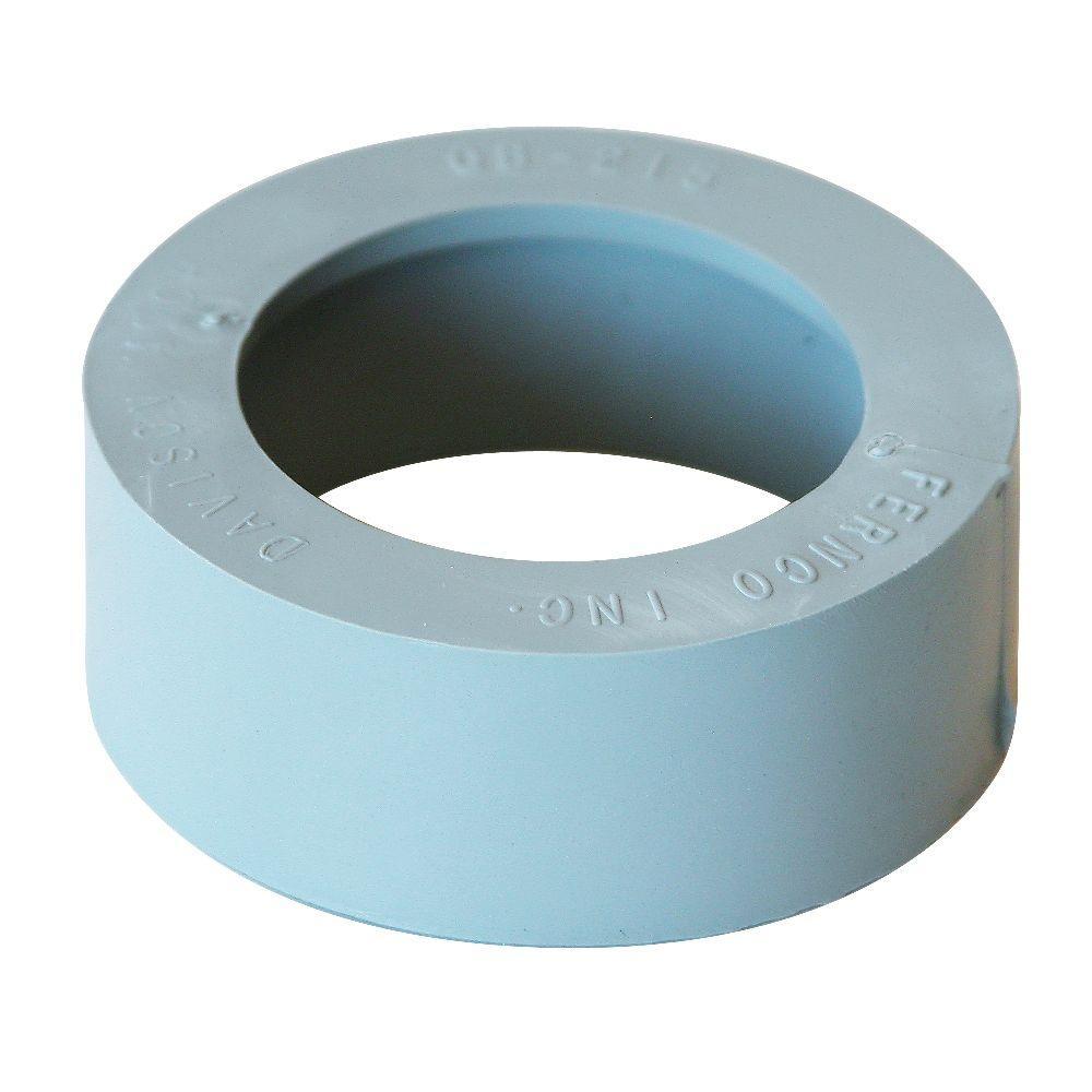 2 in. x 1-1/2 in. Flexible PVC DWV Compression Bushing