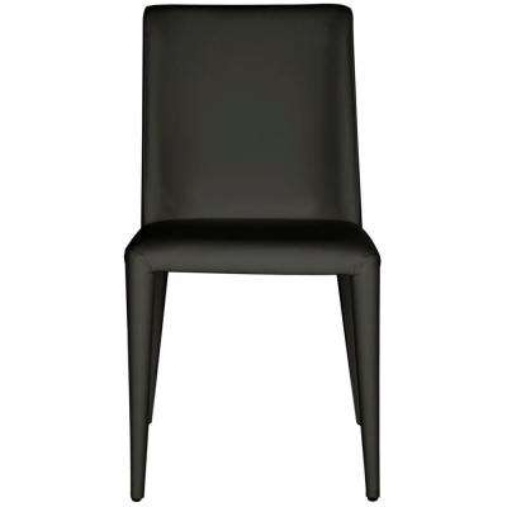 Garretson Black Leather Side Chair (Set of 2)