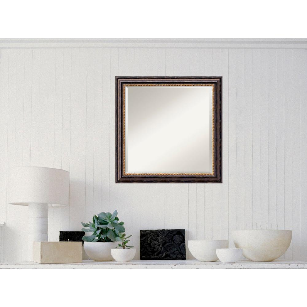 Amanti Art Tuscan Rustic Wood 24 in. W x 24 in. H Distressed Framed ...