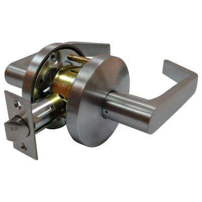 2-3/8 in. Satin Chrome Cylindrical Calypso Passage Hall/Closet Door Lever with Latch
