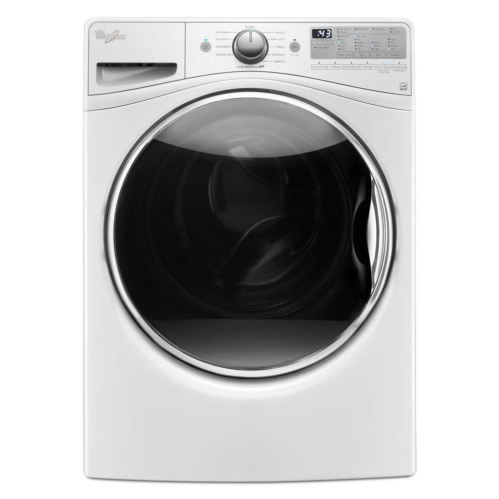 best front load washer whirlpool 4 5 cu ft high efficiency stackable white 12816