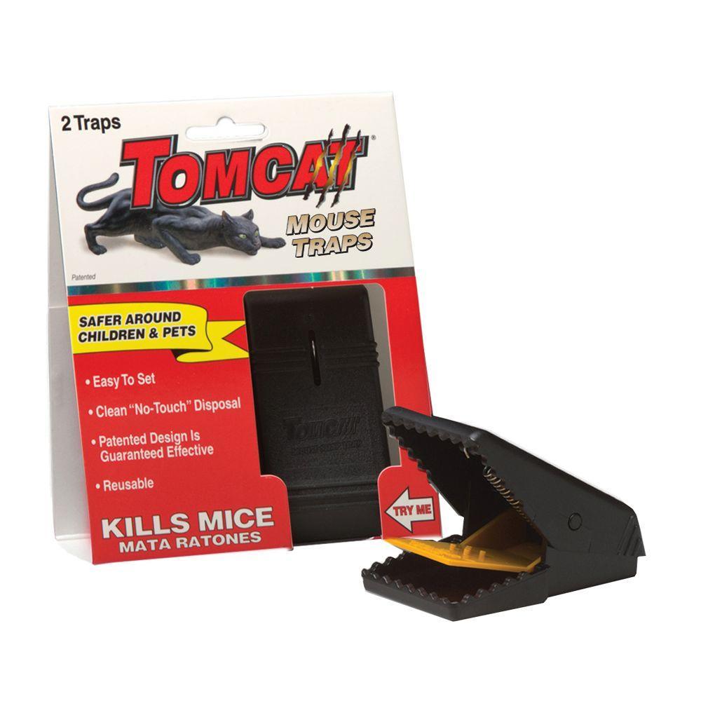 tomcat mouse snap traps 2 pack bl33505 the home depot. Black Bedroom Furniture Sets. Home Design Ideas