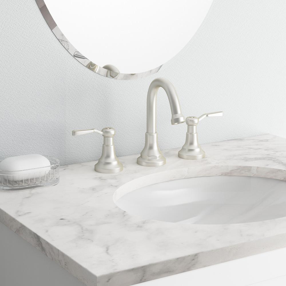 Worth 8 in. Widespread 2-Handle Bathroom Faucet in Vibrant Brushed Nickel