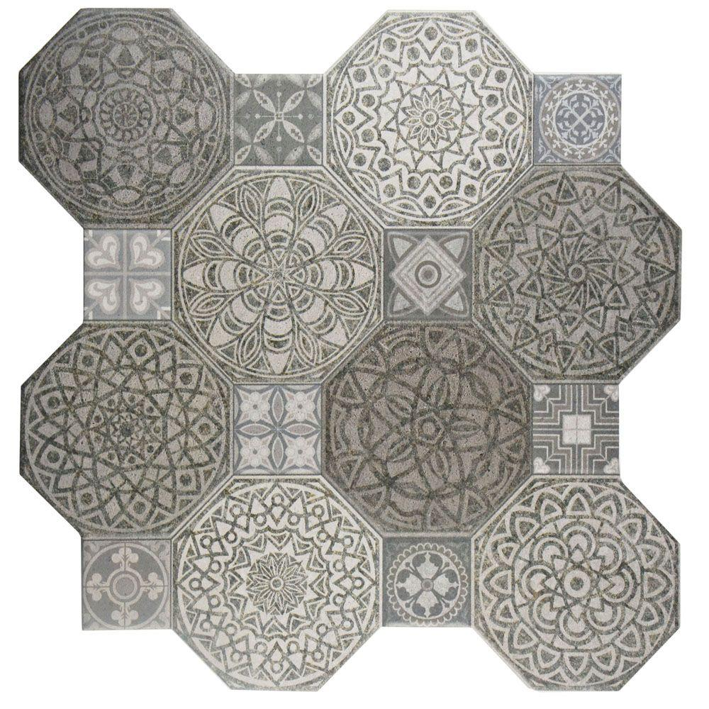 Merola tile imagine decor 17 34 in x 17 34 in ceramic floor merola tile imagine decor 17 34 in x 17 34 in ceramic floor and wall tile 1787 sq ft case fcg18imd the home depot dailygadgetfo Choice Image