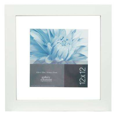Float 8 in. x 8 in. White Picture Frame