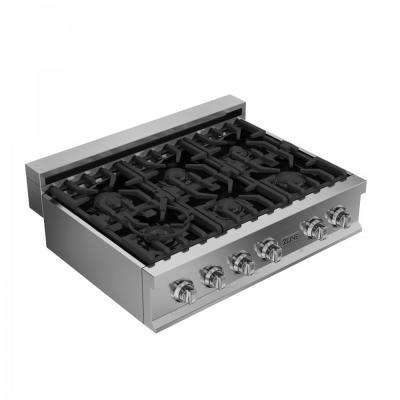 ZLINE 36 in. Porcelain with 6 Gas Burners