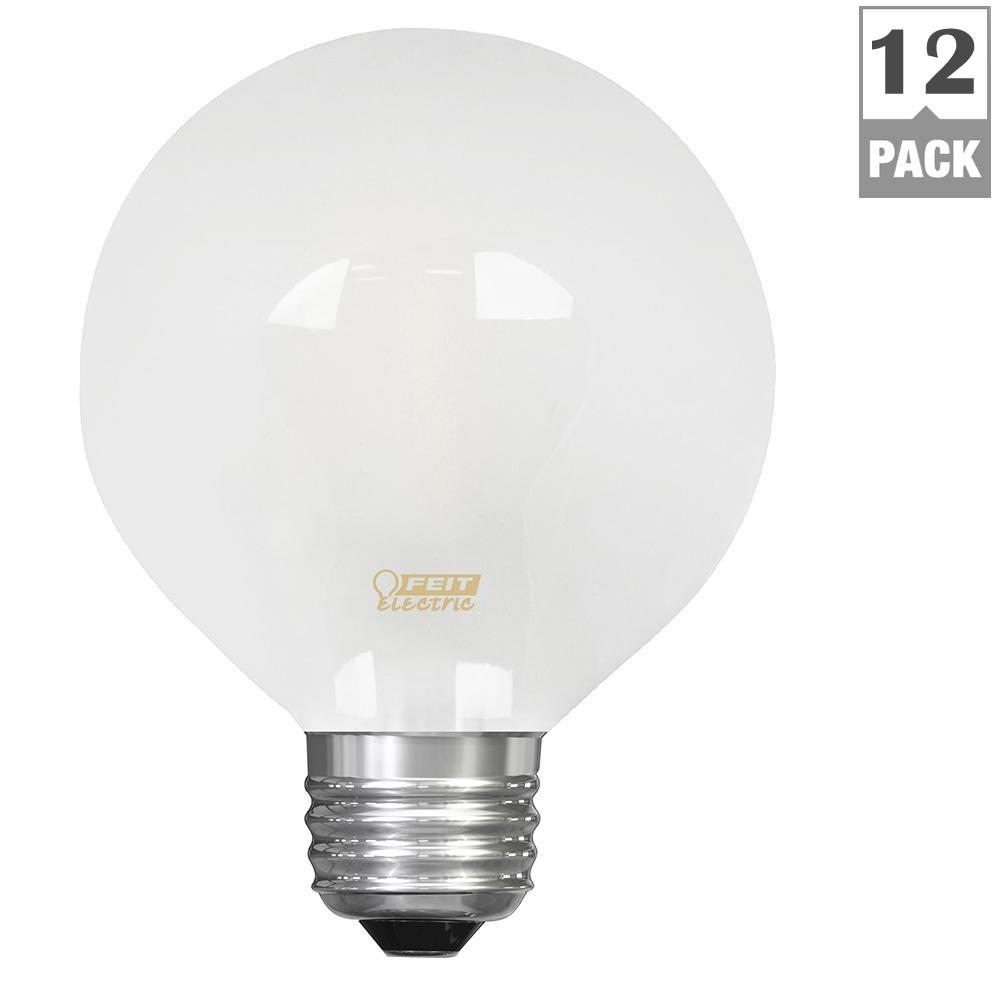 25W Equivalent Soft White (2700K) G25 Dimmable Filament LED Frosted Glass