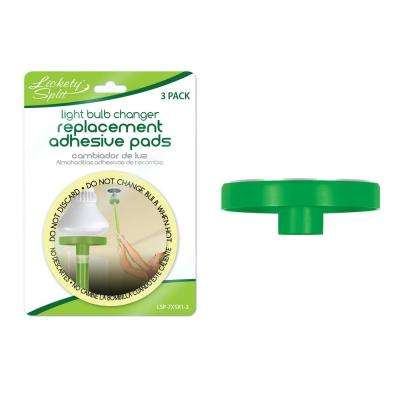 LS Light Bulb Changer Topper and 3-Pack of Adhesive Pads