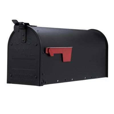 Admiral Textured Black Aluminum Medium Post Mount Mailbox