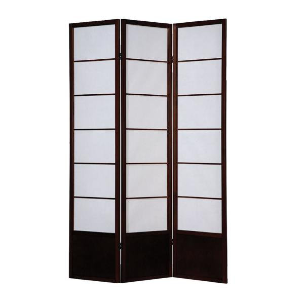 Amazing Screen Gems Shoji Wooden Screen 6 Ft Brown 3 Panel Room Home Interior And Landscaping Analalmasignezvosmurscom