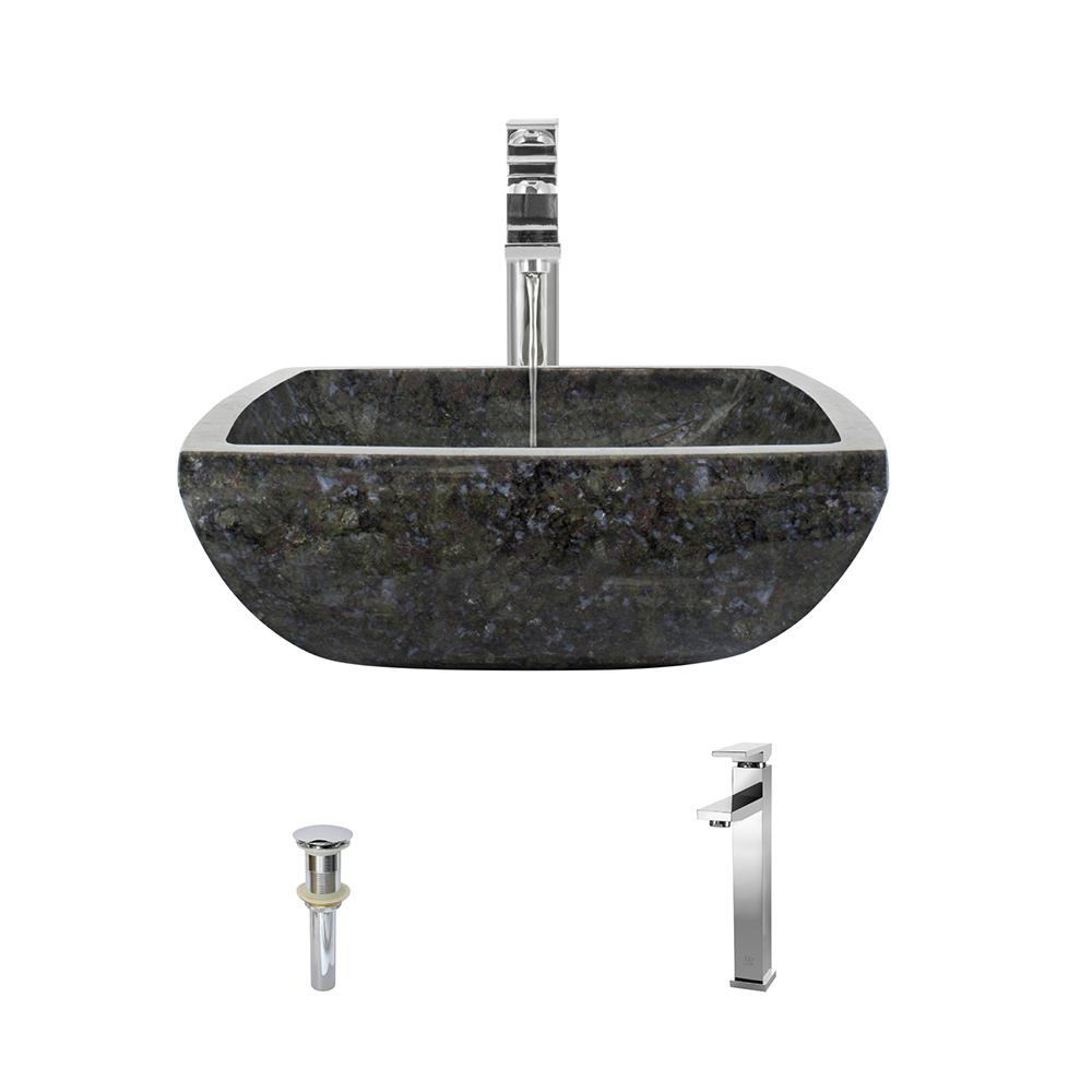 MR Direct Stone Vessel Sink in Butterfly Blue Granite with 721 ...