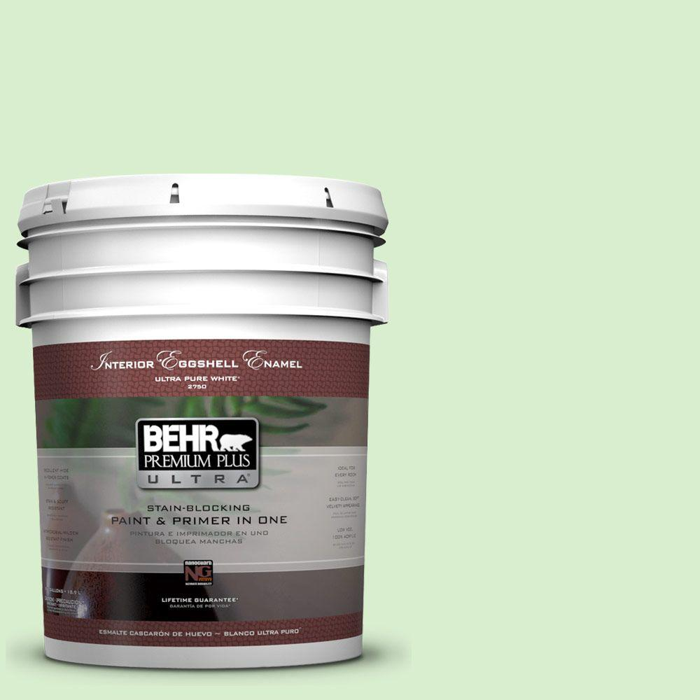 BEHR Premium Plus Ultra 5-gal. #430A-2 Seafoam Spray Eggshell Enamel Interior Paint