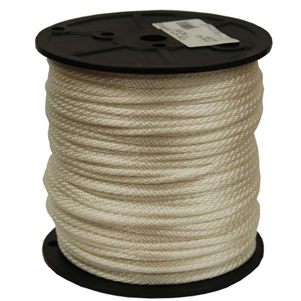 T.W. Evans Cordage 1/8 in. x 600 ft. Solid Braid Nylon Rope Spool-44 ...