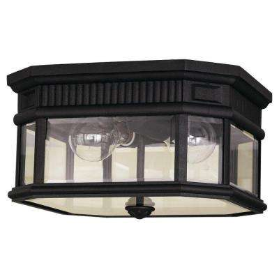Cotswold Lane 2-Light Black Outdoor Ceiling Fixture