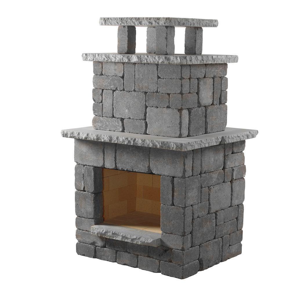 Pavestone RumbleStone 84 in. x 38.5 in. x 94.5 in. Outdoor Stone ...