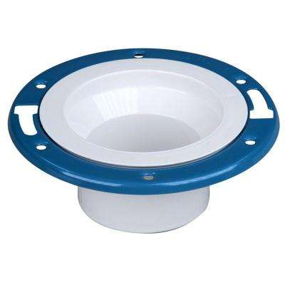 4 in. x 3 in. PVC DWV Adjustable Metal Ring Closet Flange