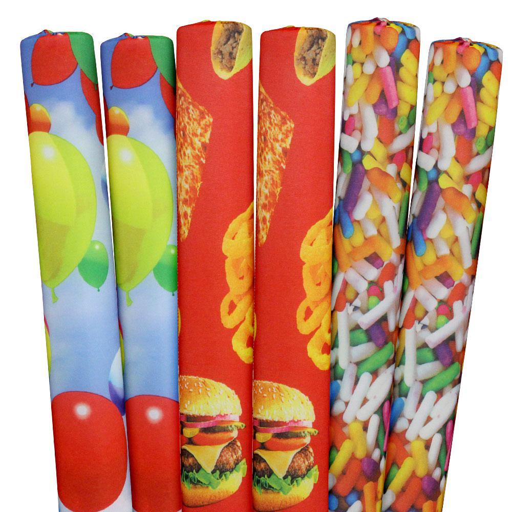 Sprinkles, Foods, Balloons Pool Noodles (6-Pack)