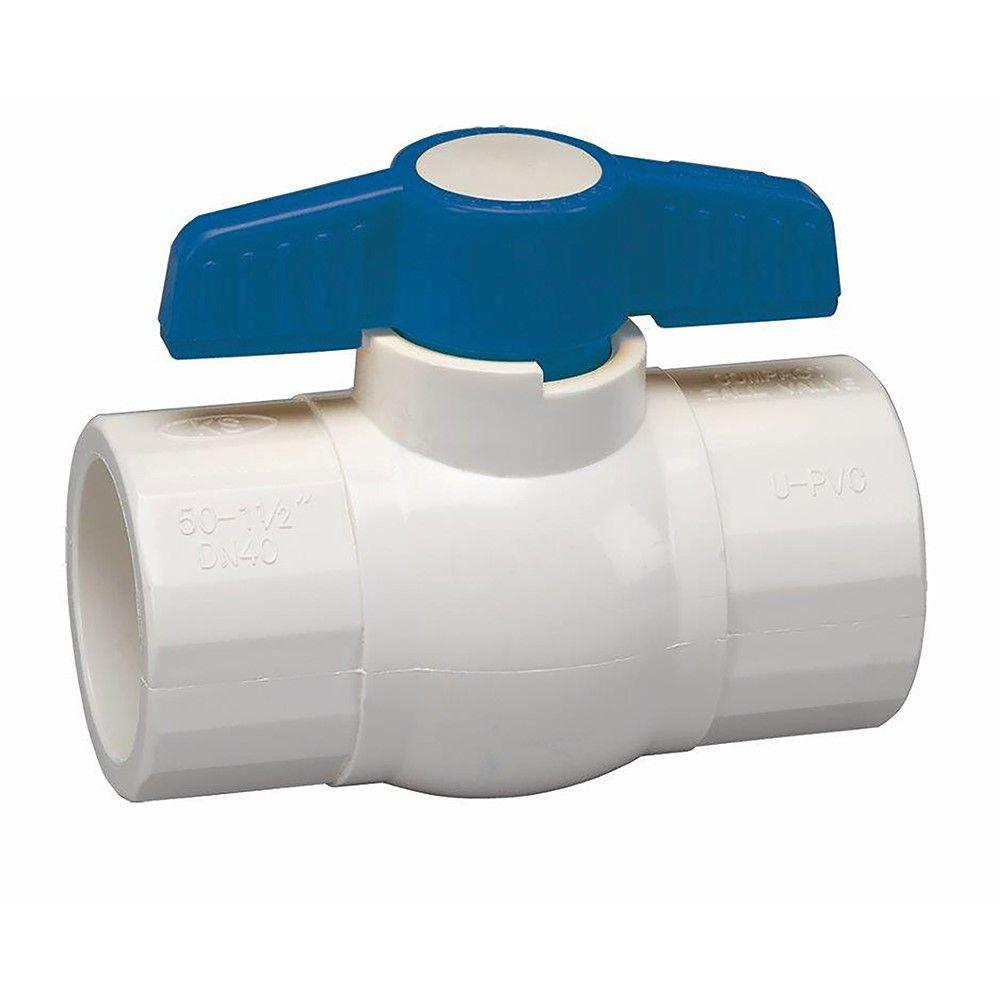 1-1/2 in. PVC Sch. 40 Slip x Slip Ball Valve