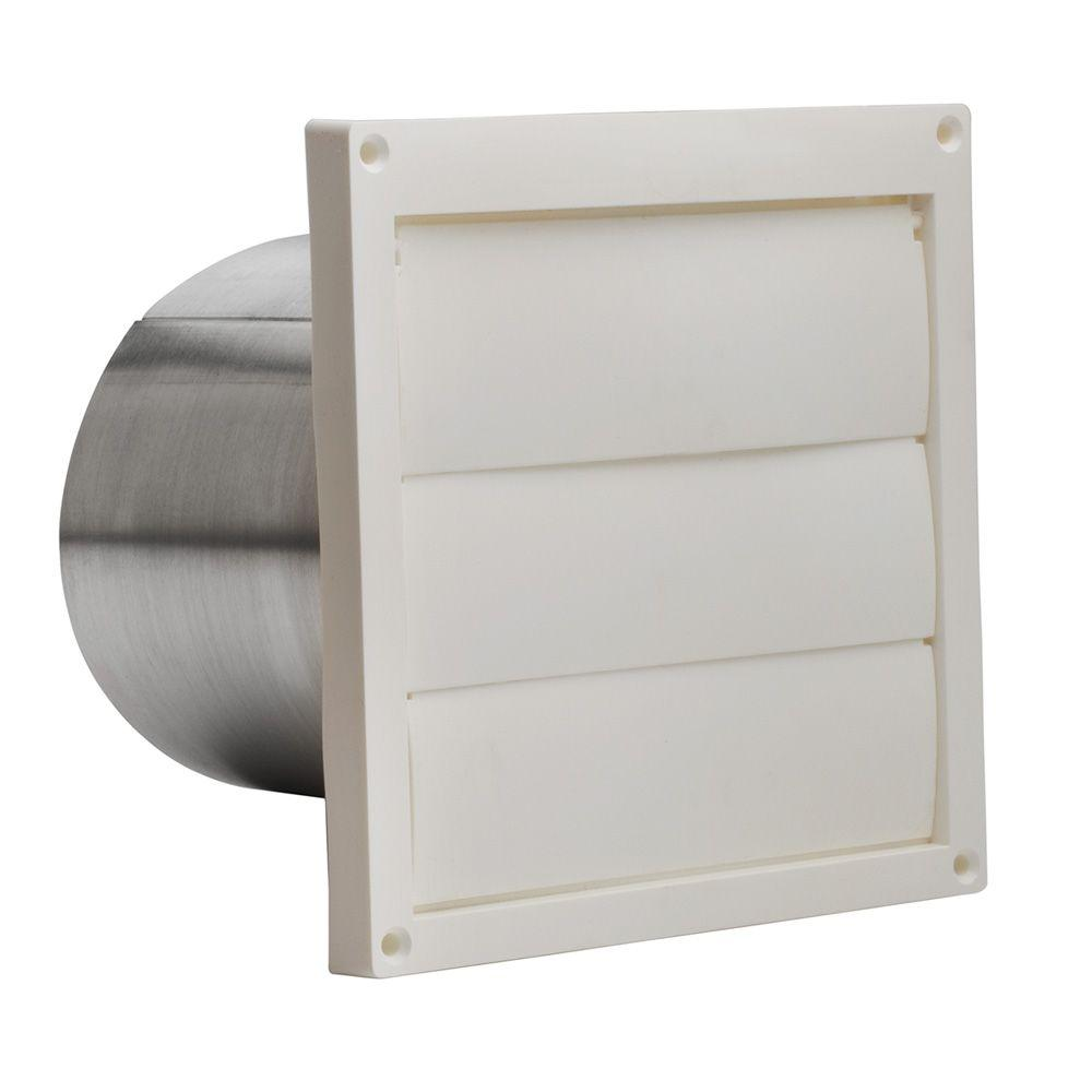 Broan plastic louvered wall cap for in round duct