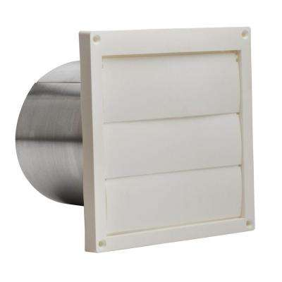 Plastic Louvered Wall Cap for 6 in. Round Duct