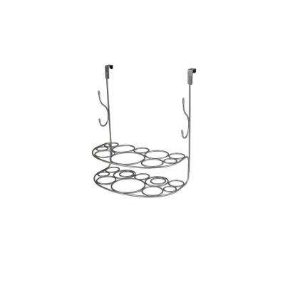 myBella 12.375 in. W Over the Cabinet Shapes Deluxe Styling Rack in Satin Nickel