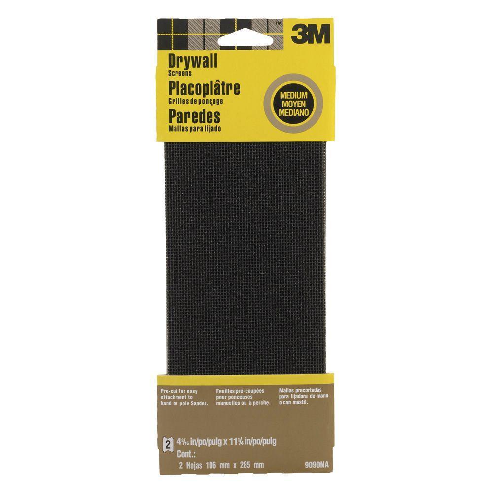4-3/16 in. x 11-1/4 in. 100 Grit Medium Drywall Sanding Screens