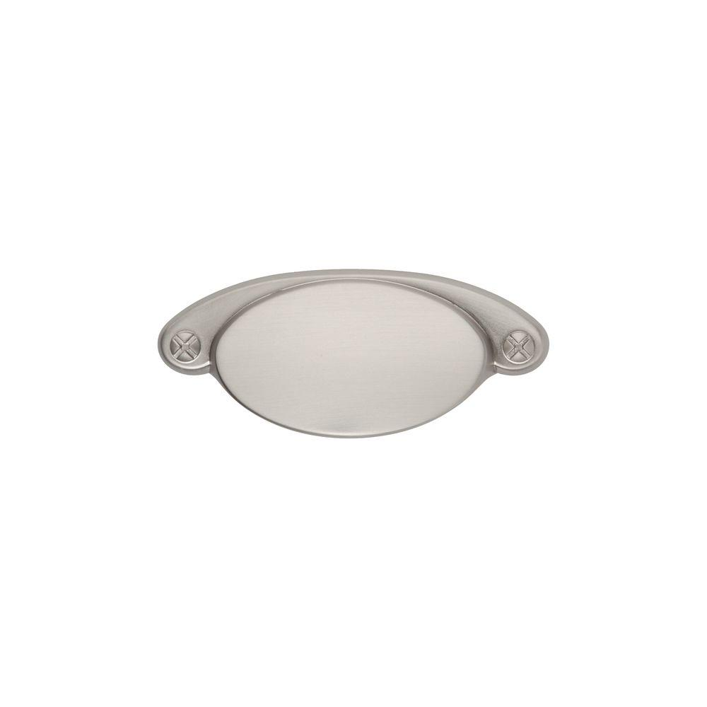 Ovaline 2-1/4 in. Satin Nickel Cup Pull