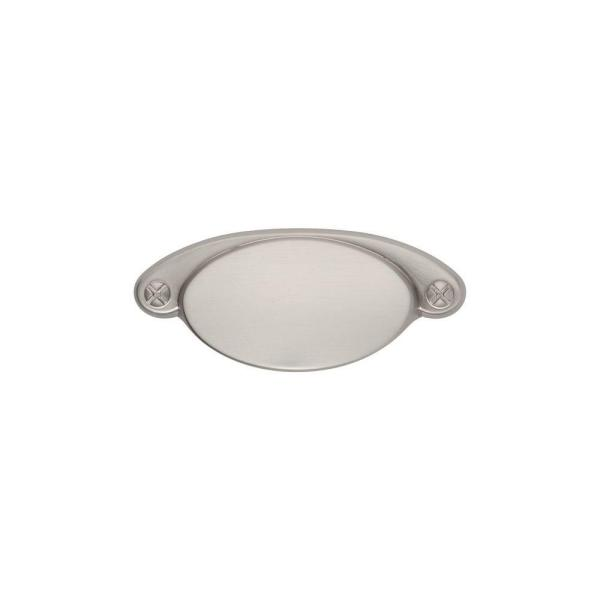 Ovaline 2-1/4 in. Center-to-Center Satin Nickel Cup Pull