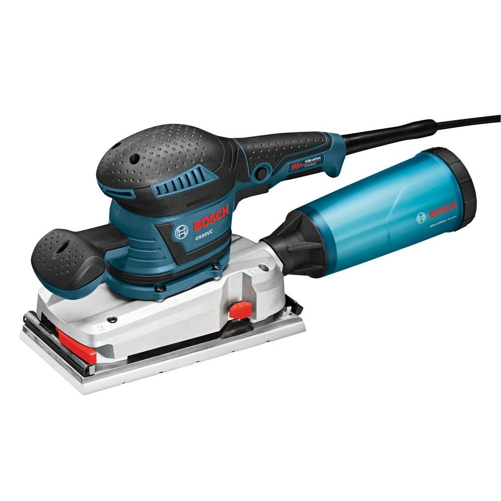 3.4 Amp 1/2 in. Corded Electric Finishing Orbital Sander Kit with