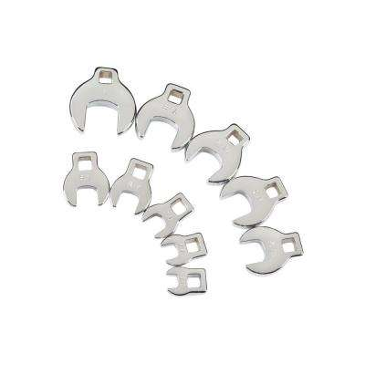 3/8 in. Drive 3/8-1 in. Crowfoot Wrench Set (10-Piece)