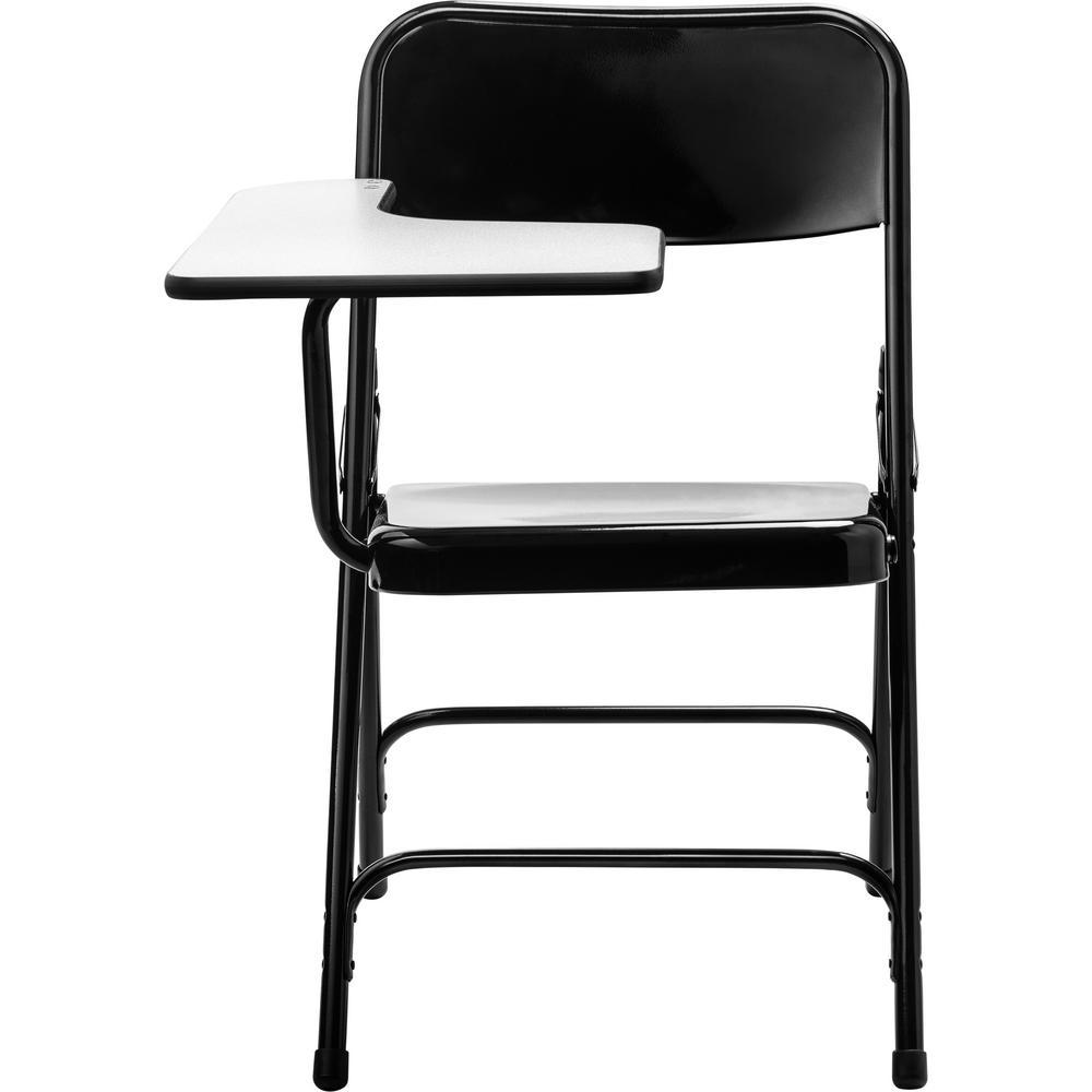 5200 Series Tablet Arm 18-Gauge Steel Folding Chair Grey Nebula Right Arm Black Chair (2-Pack)