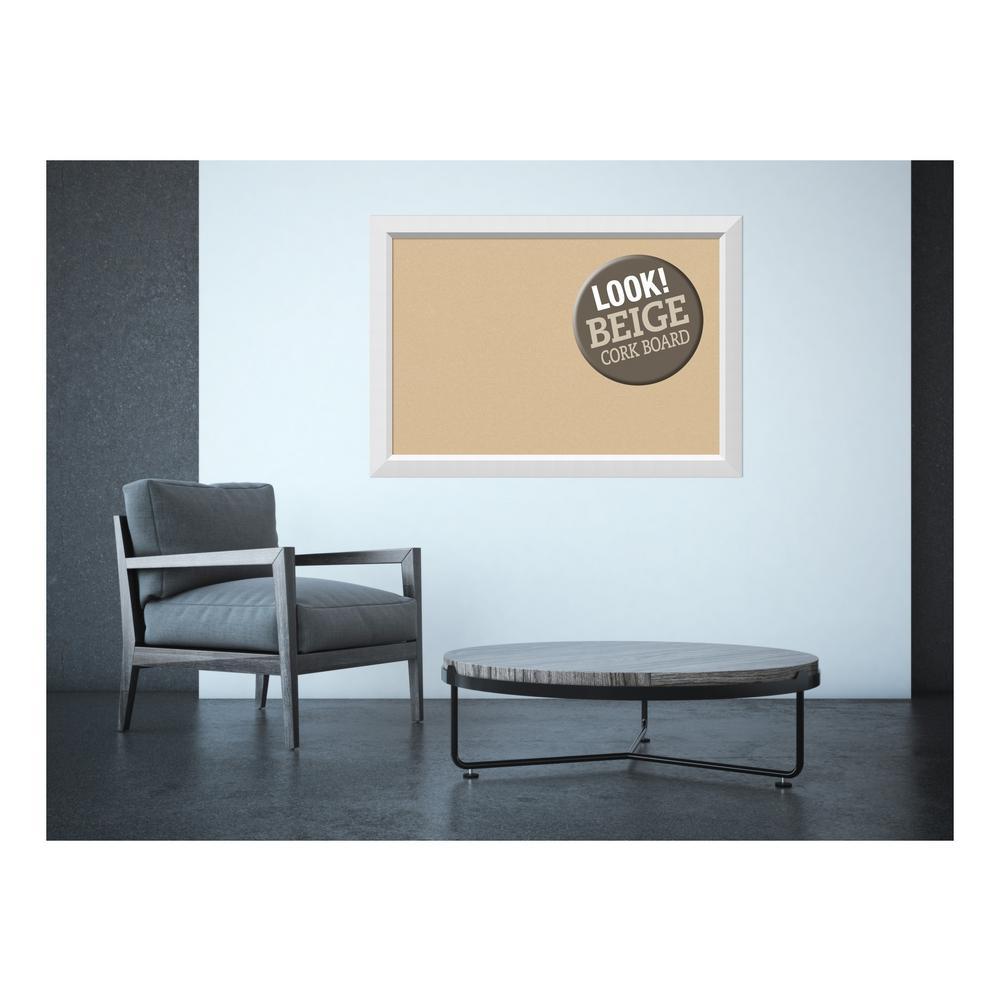 Amanti Art Blanco White Wood 40 In X 28 In Framed Beige Cork Board Dsw3979359 The Home Depot