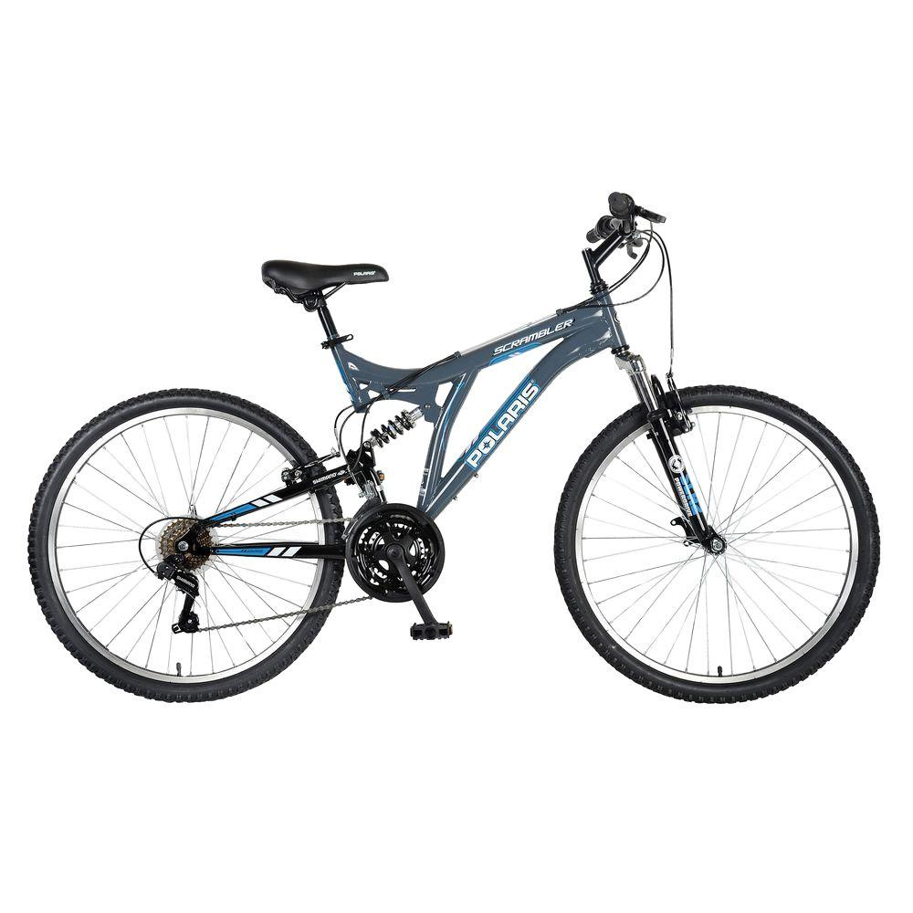 Polaris Scrambler Full Suspension Mountain Bike, 26 in. W...