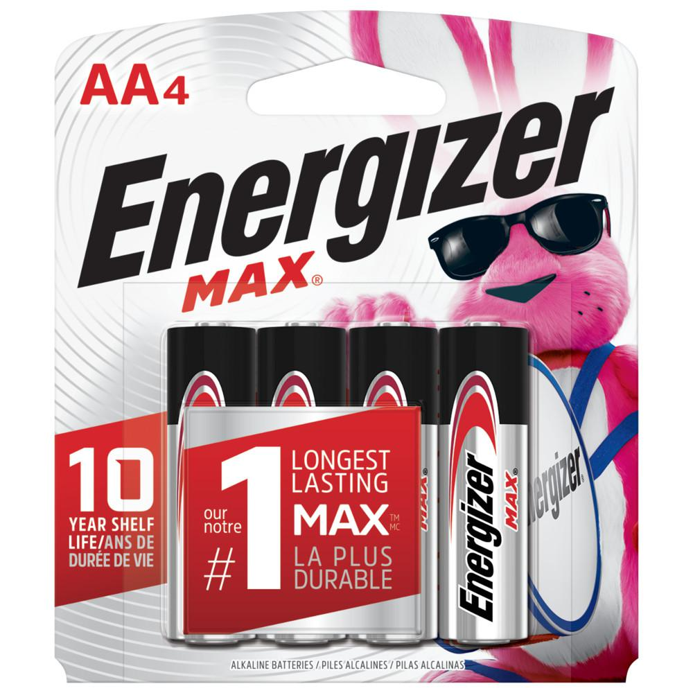 Energizer MAX Alkaline AA Battery (4-Pack)