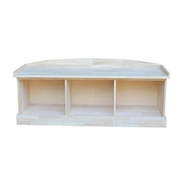 International Concepts Unfinished Bench Be 1: International Concepts Unfinished Storage Bench BE-150