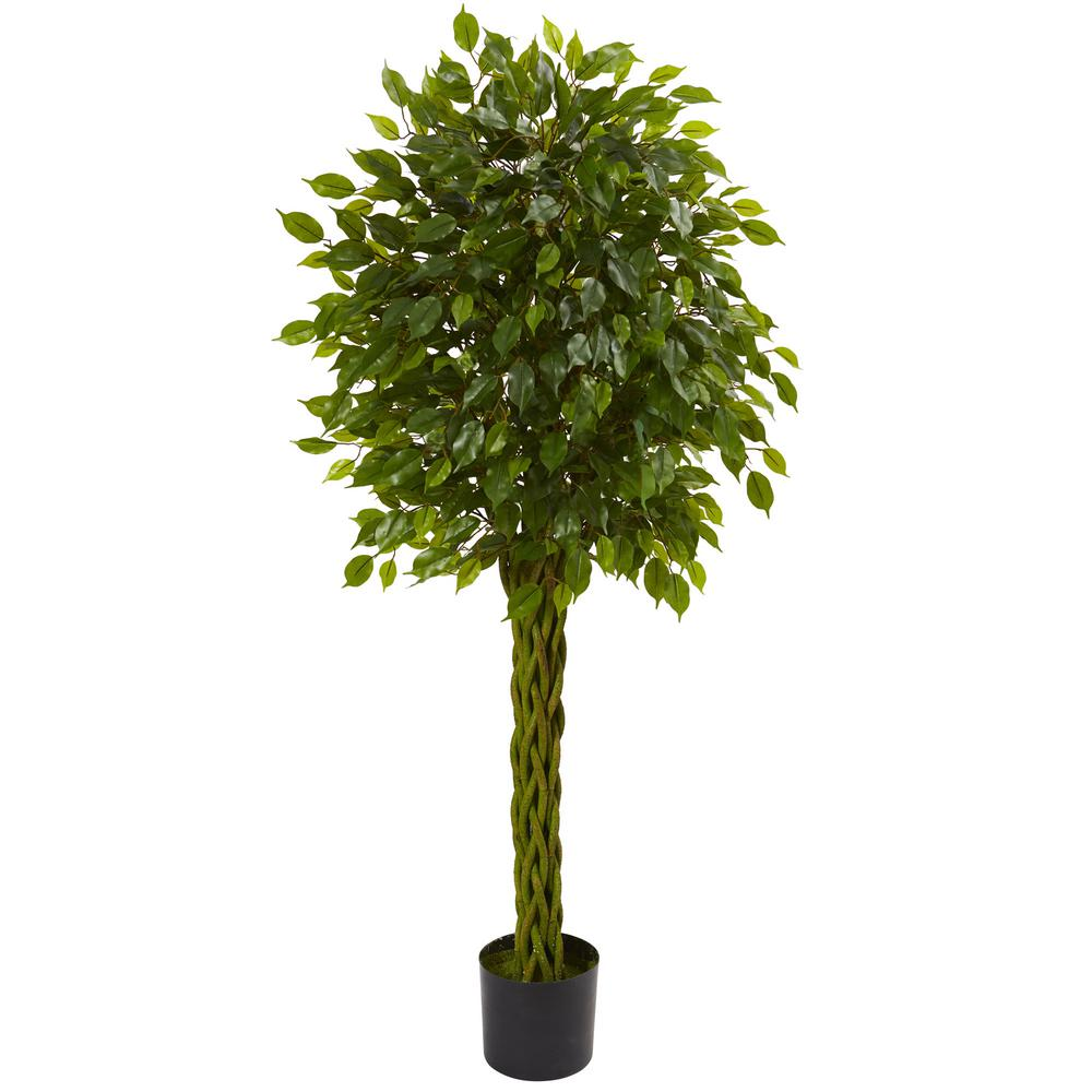 Nearly Natural 5 Ft. UV Resistant Indoor/Outdoor Ficus