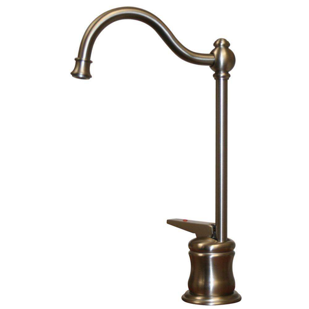 Forever Hot 1-Handle Instant Hot Water Dispenser Faucet in Brushed Nickel