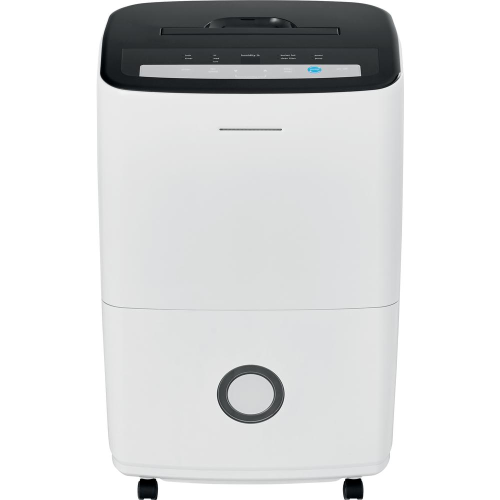 70 Pt. Dehumidifier with Built-in Pump in White