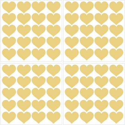 Metallic Metallic Gold Hearts Wall Decal (Set of 2)