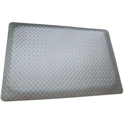 Diamond Brite Reflective Metallic 24 in. x 36 in. Vinyl Anti Fatigue Floor or Garage Mat